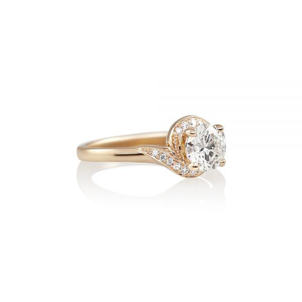Adrienne Twist Diamond Engagement Ring by Cynthia Britt-2032