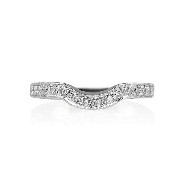 Bella Fitted Diamond Wedding Band -0