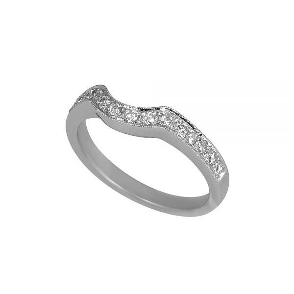 Bella Fitted Diamond Wedding Band -1839