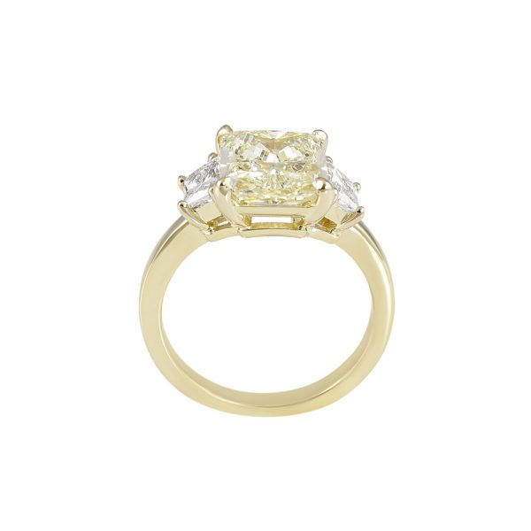 Catherina Fancy Yellow Diamond Three Stone Engagement Ring-2034