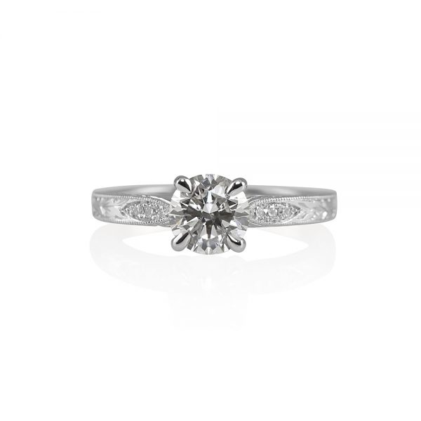 Jessica Vintage Inspired Engagement Ring-0