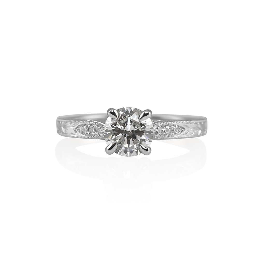 jessica vintage inspired engagement ring 0 - Vintage Inspired Wedding Rings
