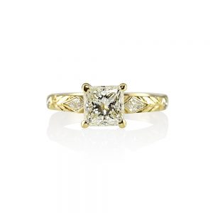 Nadia Princess Cut Diamond Engagement Ring-0