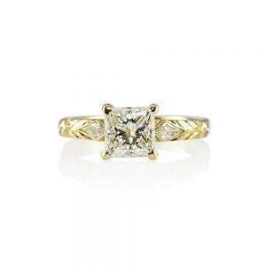 Nadia Princess Cut Diamond Engagement Ring-0