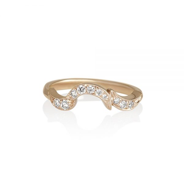 Samantha Fitted Vine Wedding Band-0