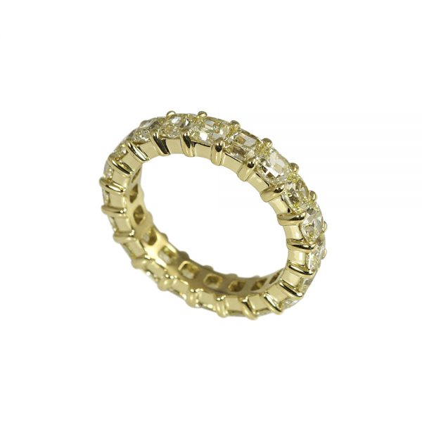 Tegan Fancy Yellow Diamond Eternity Band-1852