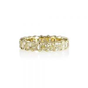 Tegan Fancy Yellow Diamond Eternity Band-0
