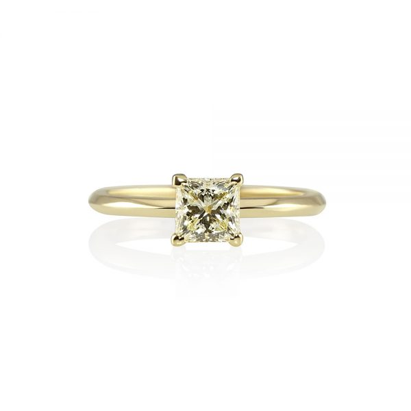 Cynthia Britt Solitaire with Fancy Yellow Diamond for Nicole-0
