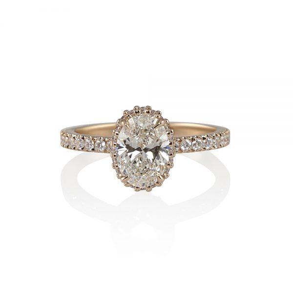 Danielle Oval Diamond Rose Gold Engagement Ring-0