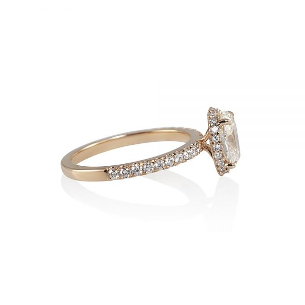 Danielle Oval Diamond Rose Gold Engagement Ring-1887