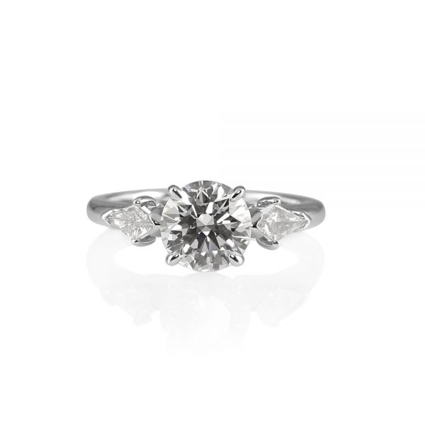 Erin Brilliant Cut And Kite Diamond Engagement Ring-0