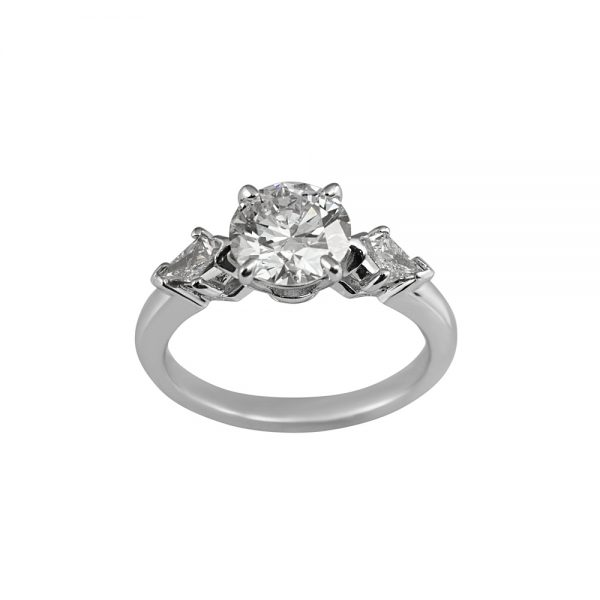 Erin Brilliant Cut And Kite Diamond Engagement Ring-1830
