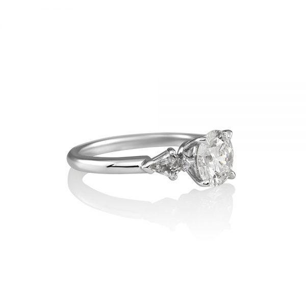 Erin Brilliant Cut And Kite Diamond Engagement Ring-1831