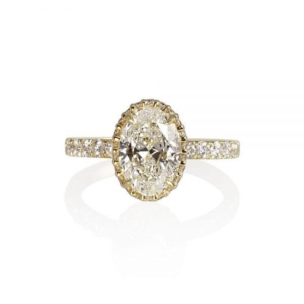 Gordon Oval Diamond Yellow Gold Engagement Ring-0