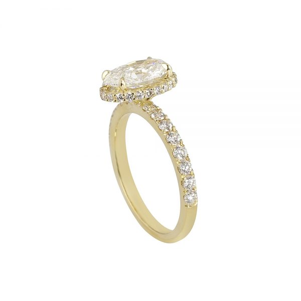 Gordon Oval Diamond Yellow Gold Engagement Ring-1902