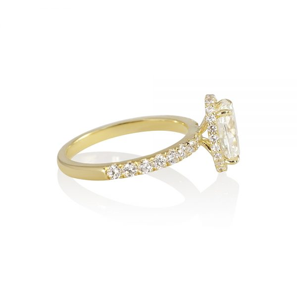 Gordon Oval Diamond Yellow Gold Engagement Ring-1884