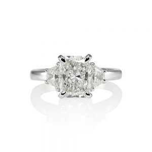 Kelsey Radiant Cut Three Stone Engagement Ring-0