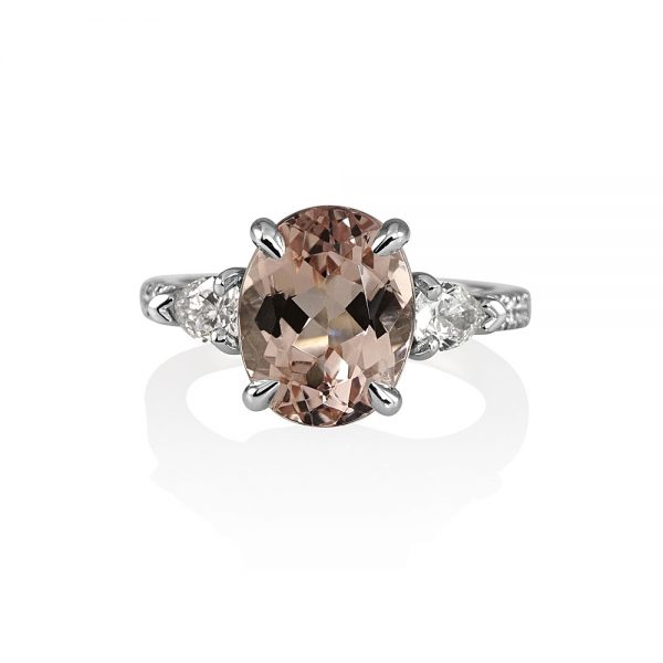 Morgan Morganite and Diamond Engagement Ring-0