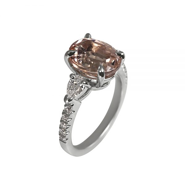 Morgan Morganite and Diamond Engagement Ring-1881