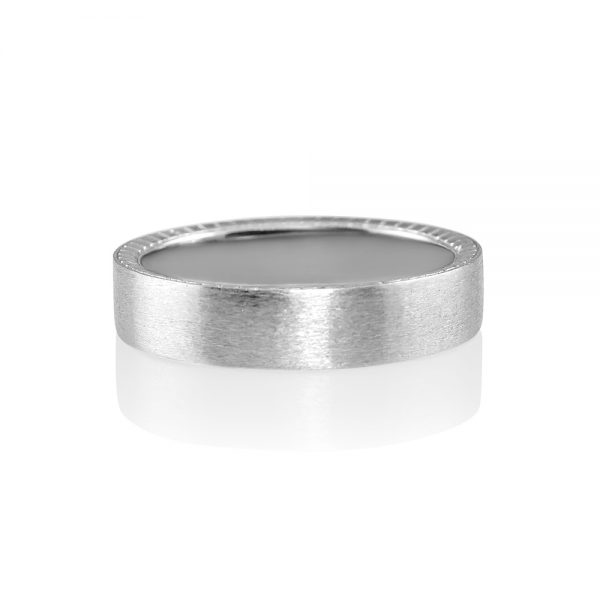 Nick Men's Platinum Race Car Wedding Band-0