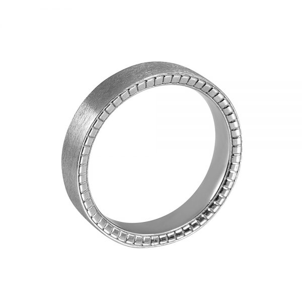 Nick Men's Platinum Race Car Wedding Band-1874