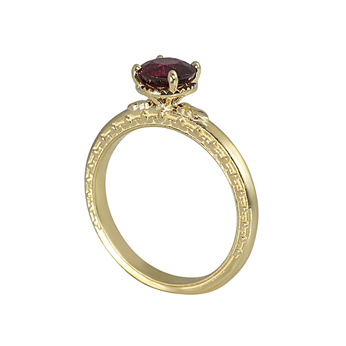 Ruby and Gold Engagement Ring