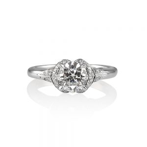 Andi Flower Petal Diamond Engagement Ring -0