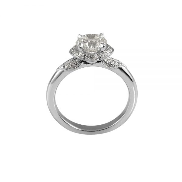 Andi Flower Petal Diamond Engagement Ring -1912