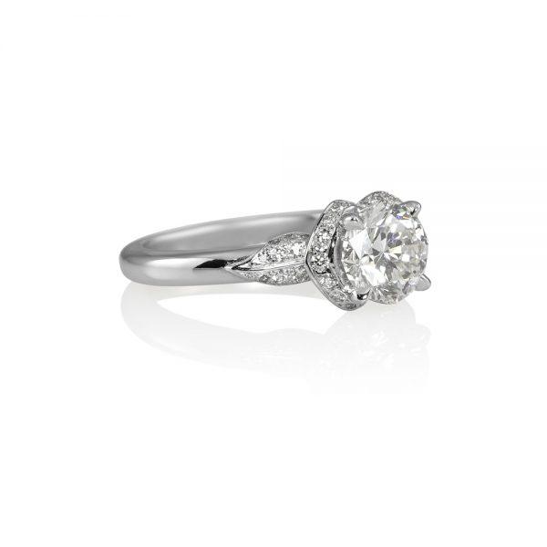 Andi Flower Petal Diamond Engagement Ring -1910