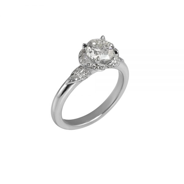 Andi Flower Petal Diamond Engagement Ring -1911