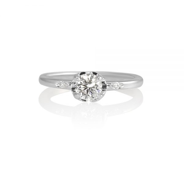 Florencia Flower Solitaire Engagement Ring-0