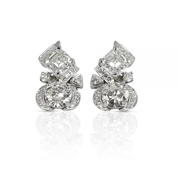Gretta Diamond Cluster Earrings-0
