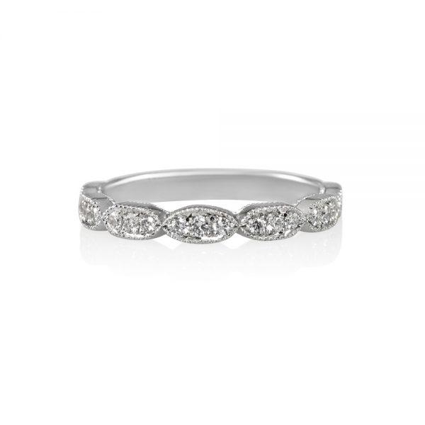 Jillian Scalloped Diamond Wedding Band-0