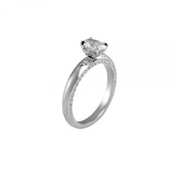 Kathleen Platinum Oval Diamond Engagement Ring-1931