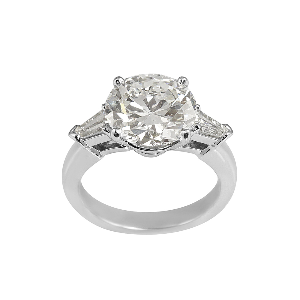 stone by three ring diamond engagement rings london round two bullet