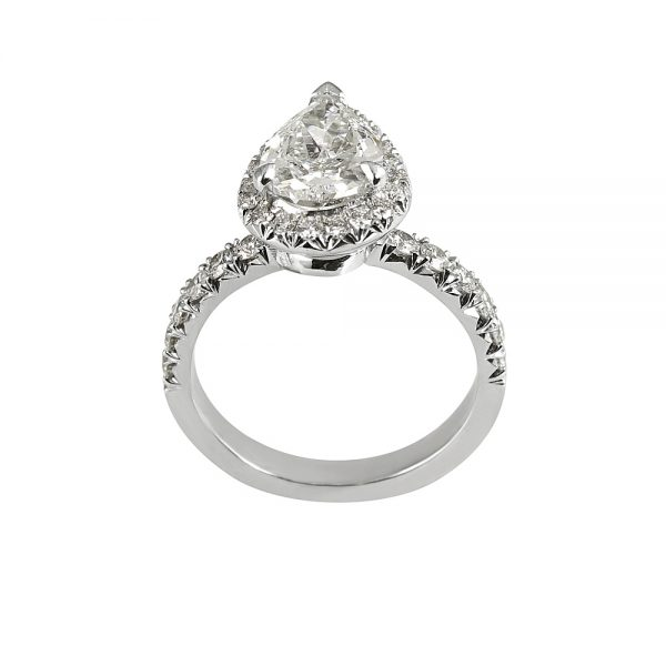 Maude Pear Cut Diamond and Halo Engagement Ring-1915