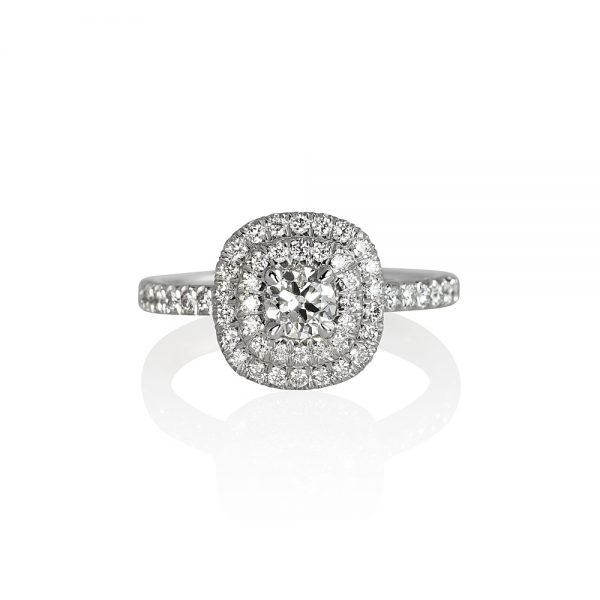 Victoria Double Halo Diamond Engagement Ring-0