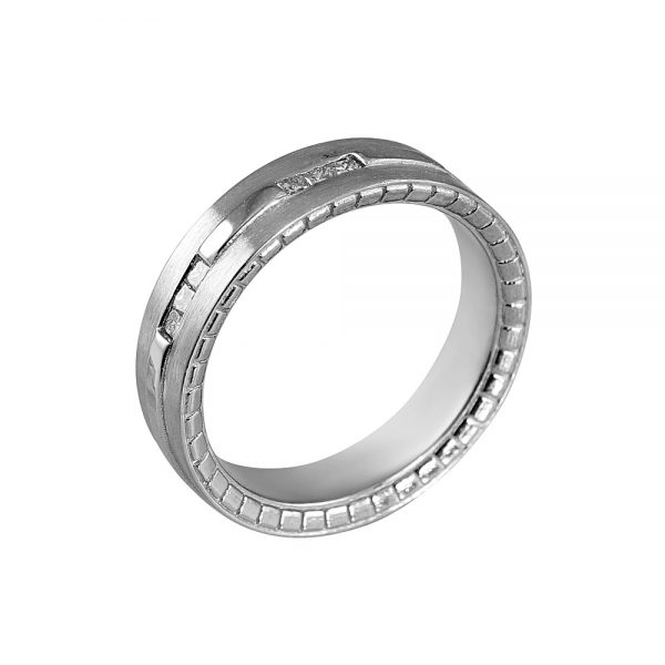 Eric Men's Princess Cut Diamond Wedding Band-1873