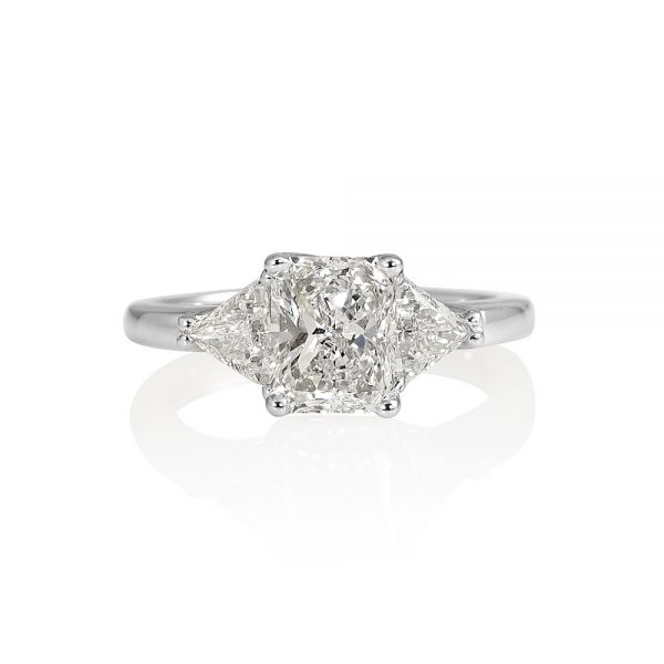 Faye Radiant Cut with Criss Cross Engagement Ring-0