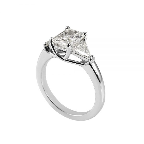 Faye Radiant Cut with Criss Cross Engagement Ring-1894