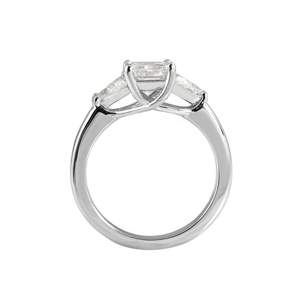 Faye Radiant Cut with Criss Cross Engagement Ring-1895