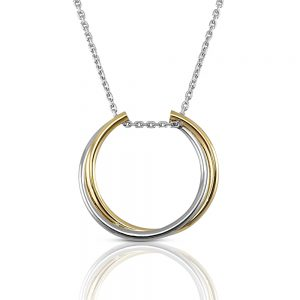 Silver and Gold Ring Holder Necklace-0