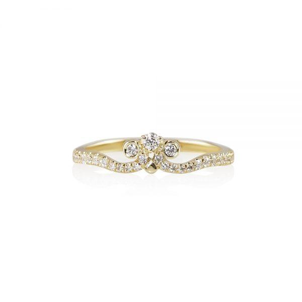 Marissa Diamond Crown Wedding Band-0