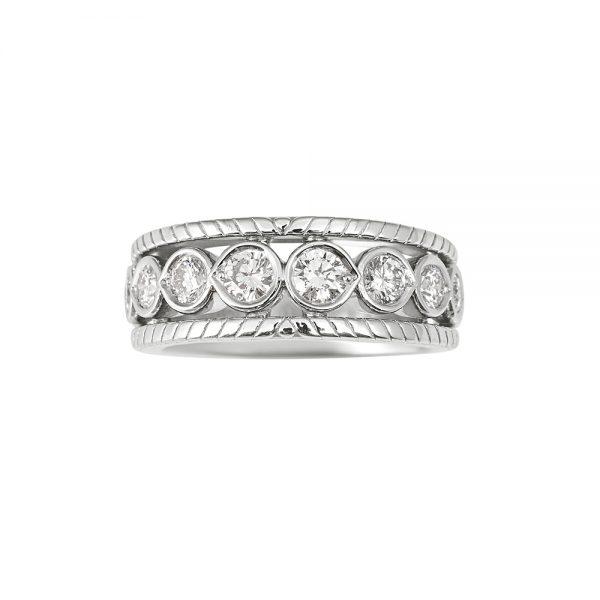 Tricia Twelve Diamond Wedding Ring-0
