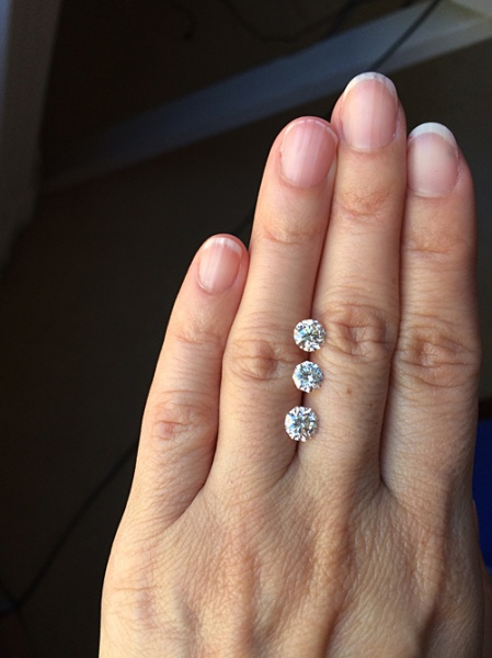 GIA Certified Round Brilliant Cut and Two 88 Cuts