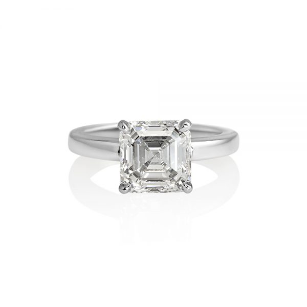 Cynthia Britt Solitaire Asscher Cut Diamond For Christina-0