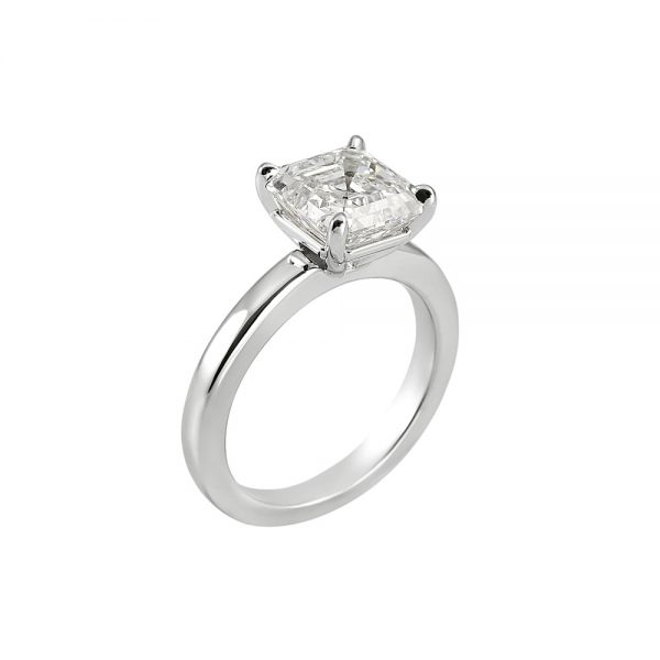 Cynthia Britt Solitaire Asscher Cut Diamond For Christina-2019