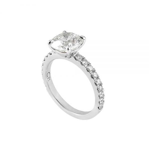 Cynthia Britt Solitaire With Diamond Band For Megan-2016