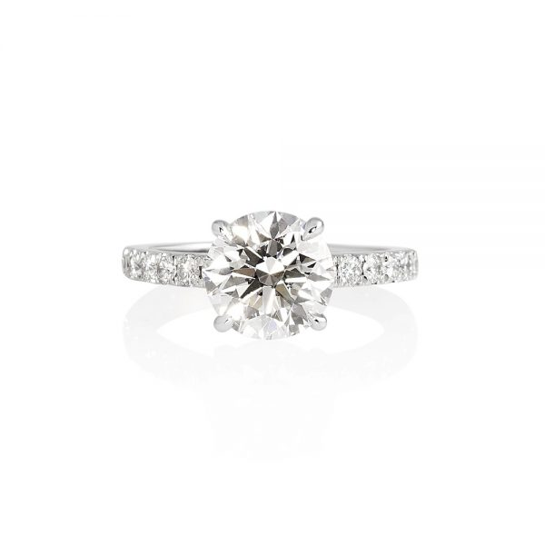 Cynthia Britt Solitaire With Diamond Band For Megan-0