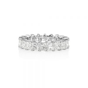 Lara Princess Cut Diamond Eternity Ring-0